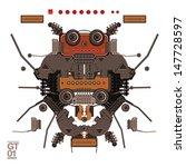 vector bugs guitar robot... | Shutterstock .eps vector #147728597