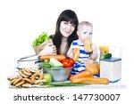 young beautiful mother with... | Shutterstock . vector #147730007