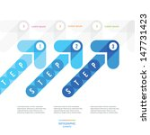 blue arrows for the step...   Shutterstock .eps vector #147731423