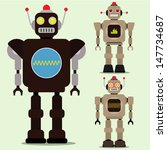 new retro robot toy ... | Shutterstock .eps vector #147734687