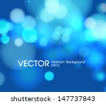 Abstract Blue  Circular Bokeh...