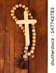 the wooden rosary beads on... | Shutterstock . vector #147743783