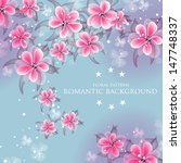 wedding invitation or card with ...   Shutterstock .eps vector #147748337