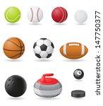 set icons sport balls vector... | Shutterstock .eps vector #147750377