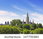 castle town hall in vienna... | Shutterstock . vector #147750383