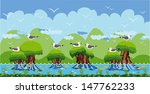 birds on islands on the... | Shutterstock .eps vector #147762233