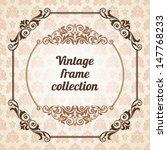 set of vintage ornate frames... | Shutterstock .eps vector #147768233