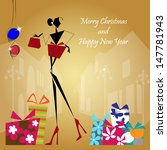 vector illustration  christmas  ... | Shutterstock .eps vector #147781943