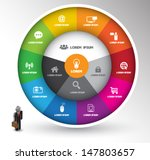 circle with icons. can use for... | Shutterstock .eps vector #147803657