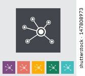 social network single flat icon.... | Shutterstock .eps vector #147808973