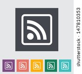 rss flat icon. vector...