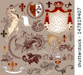 vector set of luxury royal... | Shutterstock .eps vector #147819407