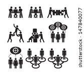 teamwork icons set | Shutterstock .eps vector #147840077