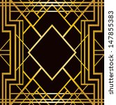 art deco geometric pattern ... | Shutterstock .eps vector #147855383