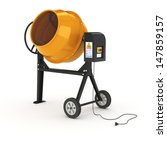 Concrete Mixer In 3d Isolated...