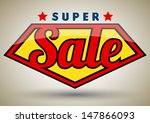 Super sale tag banner. can use for promotion.