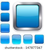 set of blank blue square... | Shutterstock .eps vector #147877367