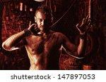 handsome muscular man in the... | Shutterstock . vector #147897053