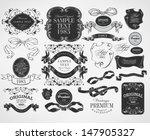retro vintage calligraphic... | Shutterstock .eps vector #147905327