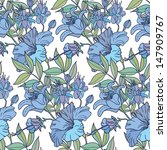 cute floral seamless pattern... | Shutterstock .eps vector #147909767
