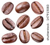 coffee beans isolated on white... | Shutterstock . vector #147915083