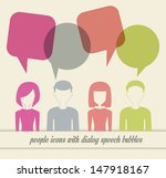 people icons with dialog speech ... | Shutterstock . vector #147918167