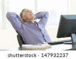 happy mature businessman with... | Shutterstock . vector #147932237
