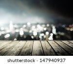 Wooden Platform And Lights Of...