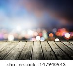 Wooden Platform And Lights Of...