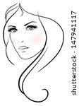 beautiful young woman with long ... | Shutterstock .eps vector #147941117