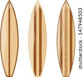 wooden surfboards isolated on...   Shutterstock .eps vector #147948503