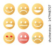 emotion icons set with shadow... | Shutterstock .eps vector #147948707