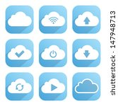 cloud service icons set  with... | Shutterstock .eps vector #147948713