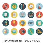 set of flat school icons.... | Shutterstock .eps vector #147974723