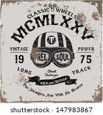 vintage motorbike race   hand... | Shutterstock .eps vector #147983867