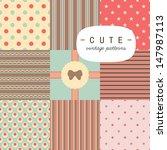 Cute Vintage Seamless Patterns...
