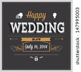 wedding invitation | Shutterstock . vector #147995003