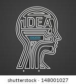 infographic head line template... | Shutterstock .eps vector #148001027