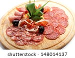 Sausages Wooden Plate