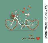 vintage card in vector. cute... | Shutterstock .eps vector #148019597