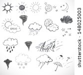 Weather Icons Set. Hand Drawn...