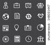 business finance icons set and... | Shutterstock .eps vector #148031447