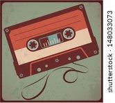 audio cassete. vector.   Shutterstock .eps vector #148033073