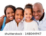 beautiful family portrait... | Shutterstock . vector #148044947