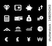 finance icon   white | Shutterstock .eps vector #148054343
