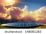 solar panels with the sunny sky | Shutterstock . vector #148081283