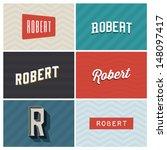 name robert, graphic design elements