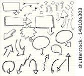 illustration of set of hand... | Shutterstock .eps vector #148106303