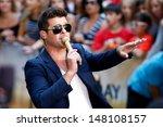 new york july 30  singer robin... | Shutterstock . vector #148108157
