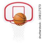 basketball basket and ball... | Shutterstock . vector #148117373